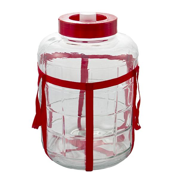 Стеклянная банка с гидрозатвором 14 литров купить в СПб: цена, описание, отзывы   Интернет-магазин товаров для дачи «Теплосезон»